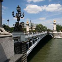 Zijkant van de Pont Alexandre III