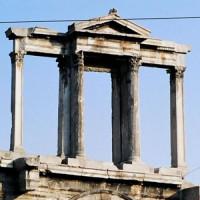 Bovenkant van de Poort van Hadrianus
