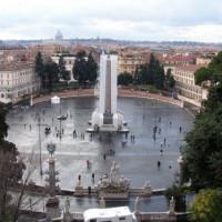 Overzicht van het Piazza del Popolo