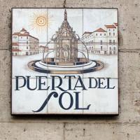 Naambord van de Puerta del Sol