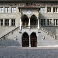 Voorgevel van het Rathaus