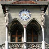 Klok op het Rathaus