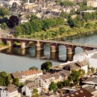 Bovenaanzicht van de Romeinse brug