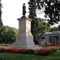 Standbeeld in de Real Jardín Botánico