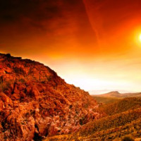 Zon op Red Rock Canyon