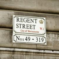 Naambord van Regent Street