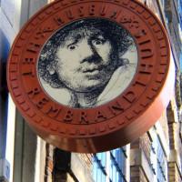 Uithangbord van Het Rembrandthuis
