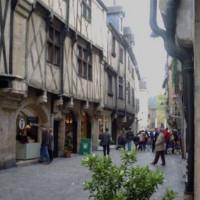 Vakwerkhuizen in de Rue des Forges