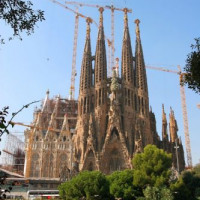 Totaalbeeld van de Sagrada Familia