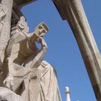 Beeld op de Sagrada Familia