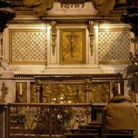 Gelovige in Saint-Sulpice