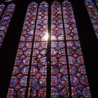 Glas in lood raam in Parijs