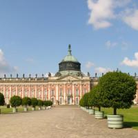 Zicht op het Schloss Sanssouci