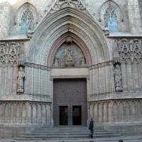 Deur van de Iglesia de Santa Maria del Pi