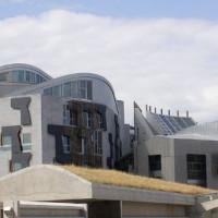 Zicht op het Schots Parlement