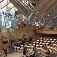 Binnen in het Schots Parlement