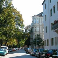 Straatbeeld in Schwabing