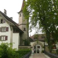 Zicht op het Schloss Landshut