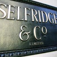 Naambord van Selfridges
