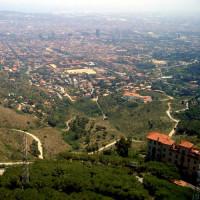 Zicht van op de Serra de Collserola