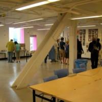 Binnen in het Sharp Centre for Design