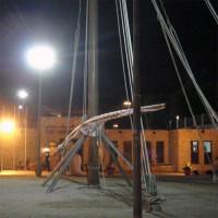 Houten constructie bij Sheikh Saeed House