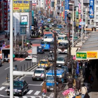 Verkeer in Shinjuku