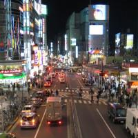 Straatbeeld van Shinjuku