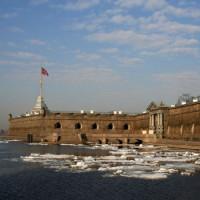 Rivier in Sint-Petersburg