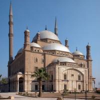 Totaalbeeld van de Mohammed Ali-moskee