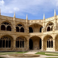 Binnenplein van het Monasterio dos Jerónimos