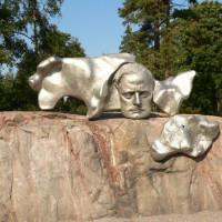 Deel van het Sibeliusmonument