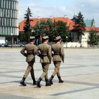 Soldaten in Warschau