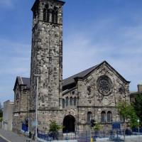 Beeld op de Sinclair Seamen's Church