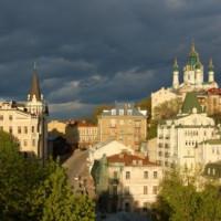 Vergezicht op de Sint-Andrieskathedraal