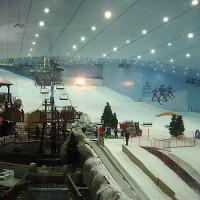 Zicht binnen in Ski Dubai