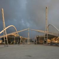 Zijkant van het Olympisch Stadion