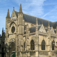 Deel van de Eglise Saint-Michel en Flêche Saint-Michel
