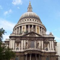 Voorkant van St. Paul's Cathedral