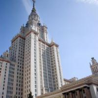 Gebouw van de Staatsuniversiteit van Moskou