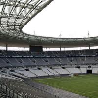 Lege tribunes van het Stade de France