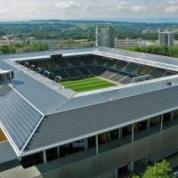 Dak op het Stade de Suisse