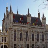 Voorkant van het Brugse Stadhuis