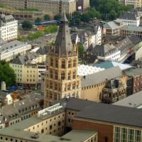 Luchtbeeld van het Stadhuis van Keulen