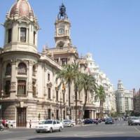 Weg voor het Stadhuis Valencia