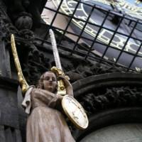 Detail van het Oude Stadhuis van Praag