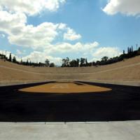 Binnenkant van het Stadion Panathinaiko