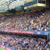 Supporters in Stamford Bridge