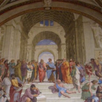 Fresco in de Stanze van Rafaël