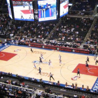 Basketbalveld in Staples Center